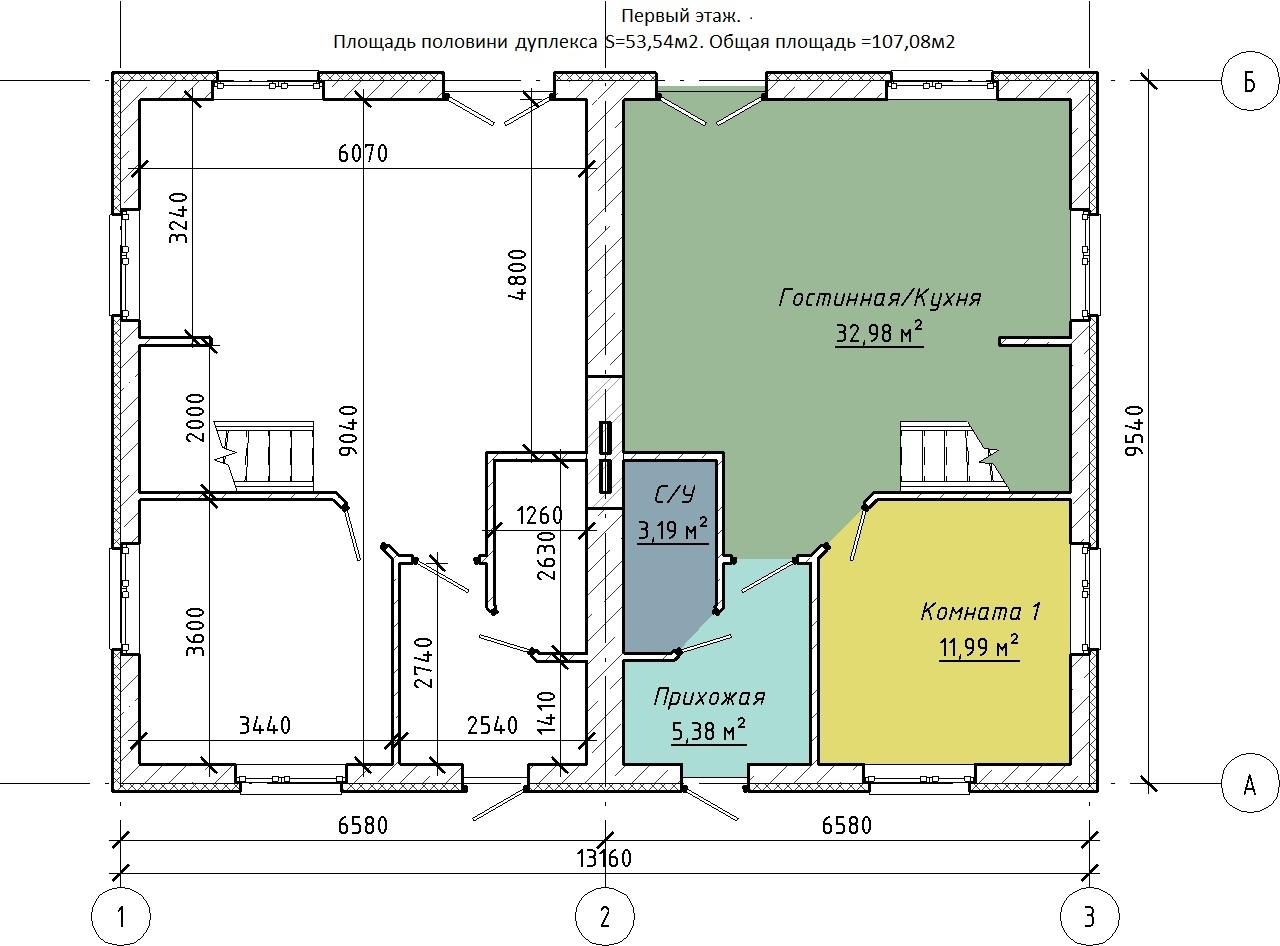 Нажмите на изображение для увеличения Название: Новые ТХ - План этажа - Этаж 1.jpg Просмотров: 72 Размер:214.3 Кб ID:540396